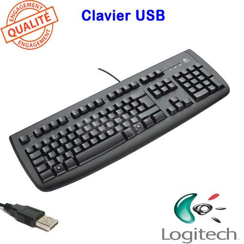 clavier logitech deluxe 250 keyboard usb filaire noir. Black Bedroom Furniture Sets. Home Design Ideas